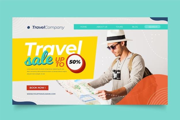 Página inicial de venda de viagens Vetor grátis