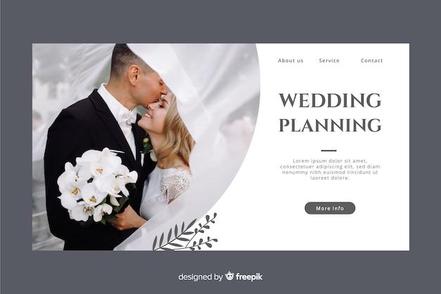 Página inicial do casamento com foto Vetor grátis