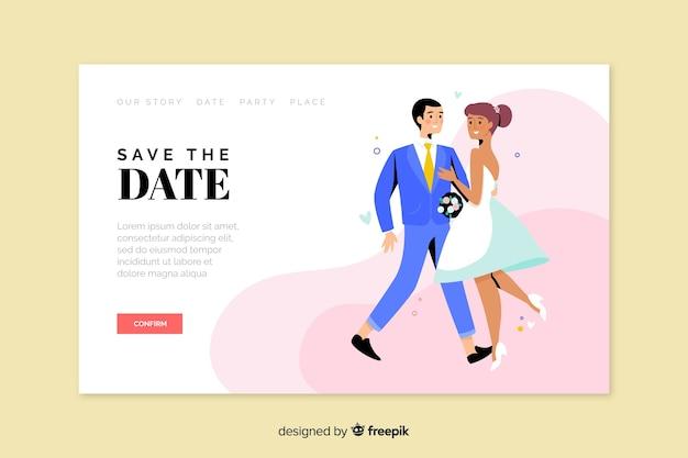 Página inicial do casamento Vetor grátis