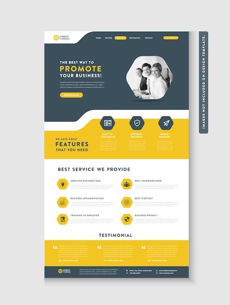 Página inicial do site comercial Vetor Premium