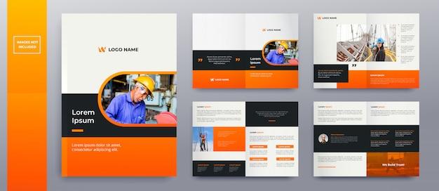 Páginas de brochura modernas Vetor Premium