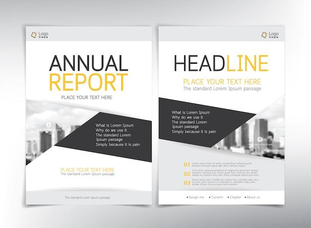 Páginas de capa de negócios modernos, modelo com copyspace Vetor Premium