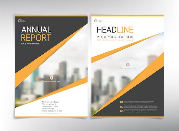 Páginas de capa de negócios modernos, modelo com spaace Vetor Premium