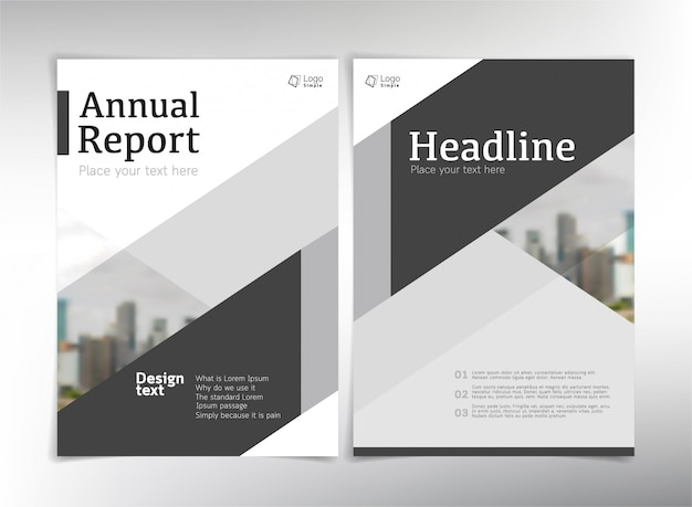 Páginas de capa de negócios modernos, modelo Vetor Premium
