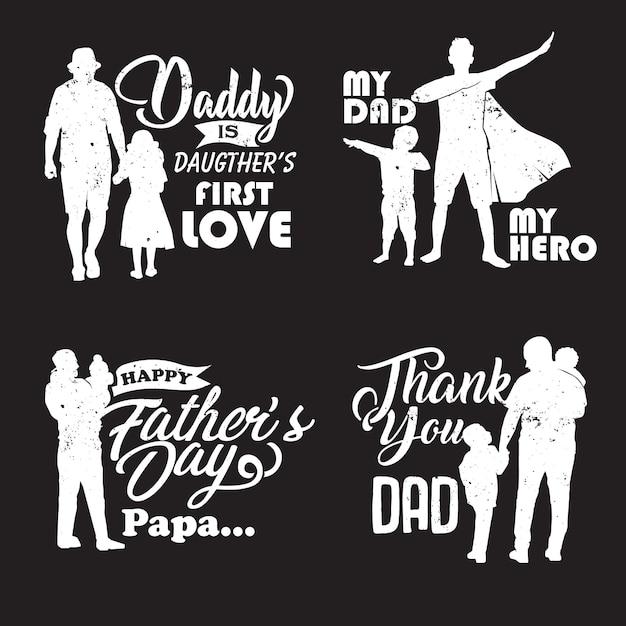 Pai e filho silhueta Vetor Premium