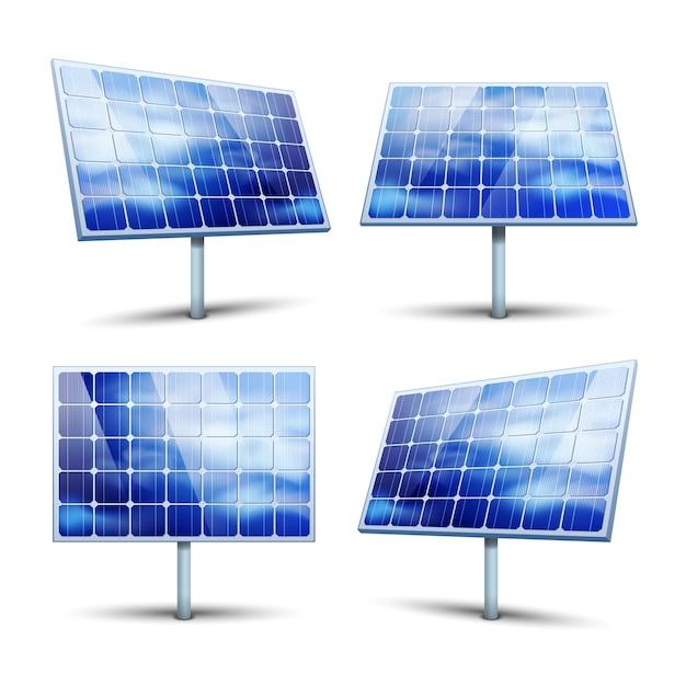 Painéis solares Vetor grátis