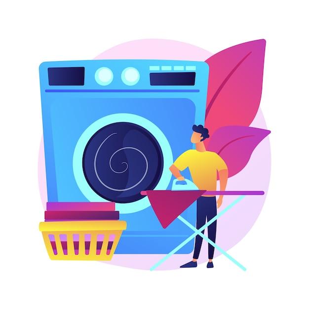 Pais e ilustração do conceito abstrato do trabalho doméstico. Vetor grátis