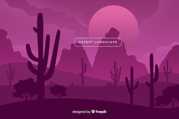 Paisagem do deserto em uma sombra violeta Vetor grátis