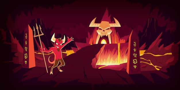 Paisagem do inferno Vetor grátis