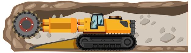 Paisagem subterrânea de mina de carvão Vetor grátis