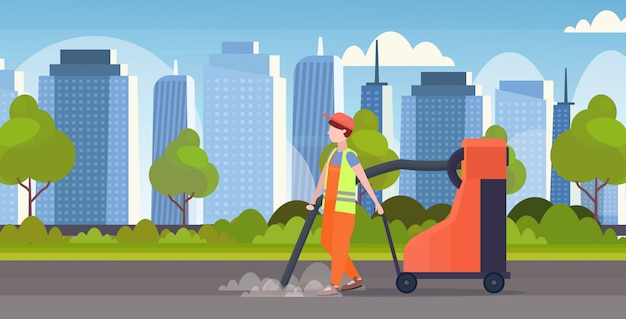 Palavras-chave: macho rua serviço holding industrial limpeza horizontal aspirador homem rua conceito limpeza ruas moderno lixo conceito comprimento cityscape aspirador lixo comprimento horizontal Vetor Premium