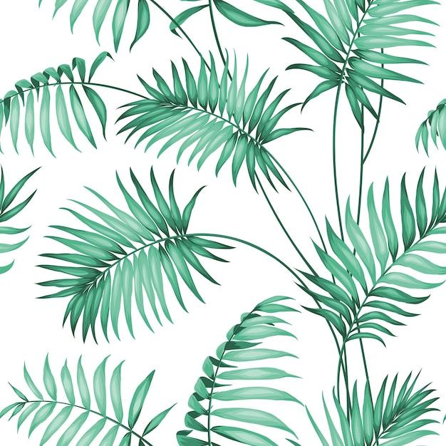 Palm seamless pattern Vetor grátis