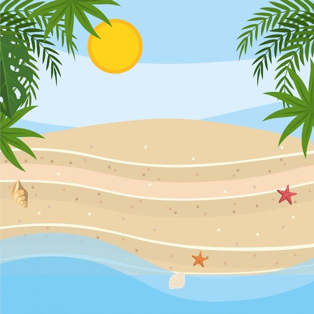 Palmeira da temporada de verão Vetor grátis