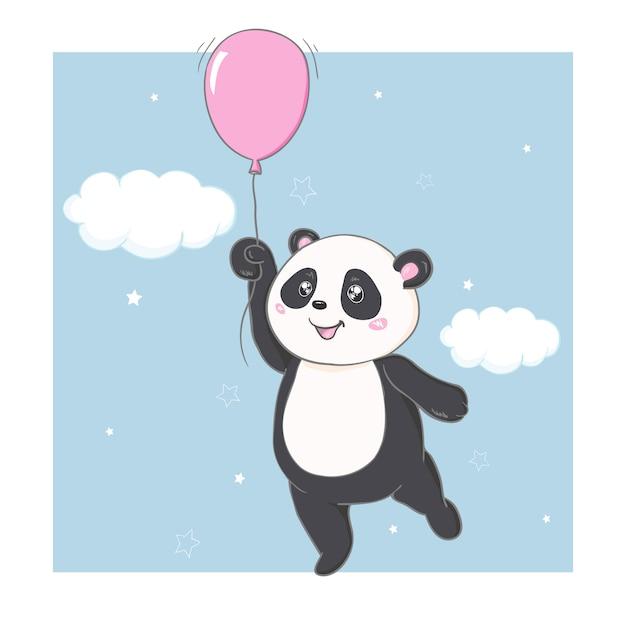 Panda de vetor Vetor Premium