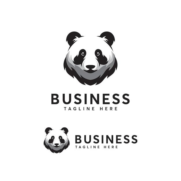 Panda logo template Vetor Premium