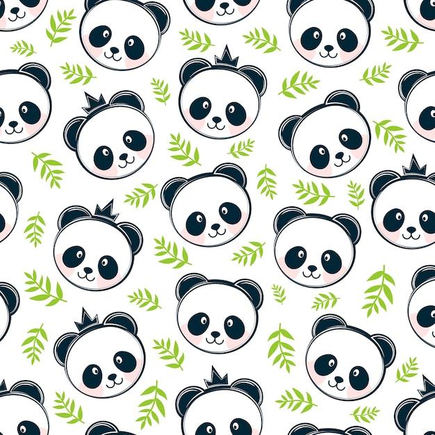 Panda sem costura de fundo   Baixar vetores Premium