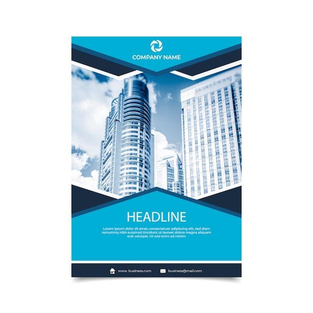 Panfleto comercial abstrato com foto Vetor grátis