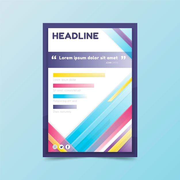 Panfleto comercial com título e formas coloridas Vetor grátis