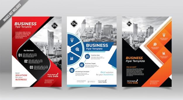 Panfleto comercial corporativo ou modelo de design panfleto. Vetor Premium