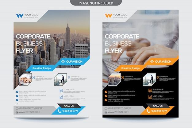 Panfleto comercial moderno Vetor Premium
