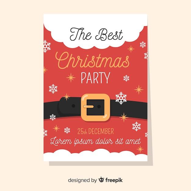 Panfleto de festa de natal / cartaz Vetor grátis