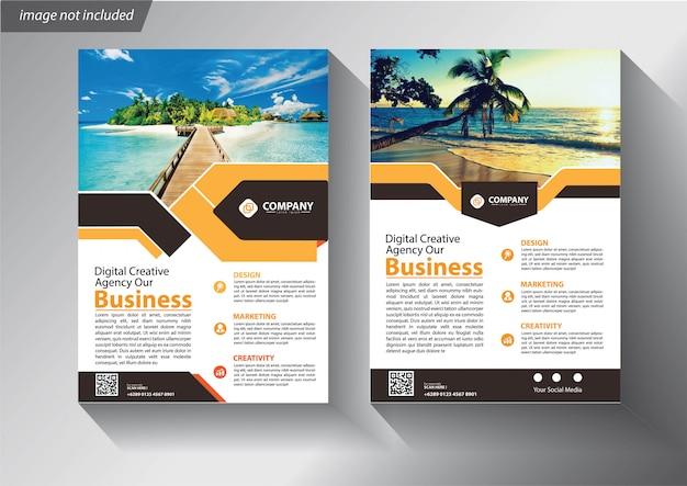 Panfleto ou panfleto modelo para empresa de negócios Vetor Premium