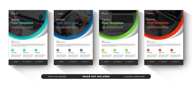Panfletos corporativos Vetor Premium