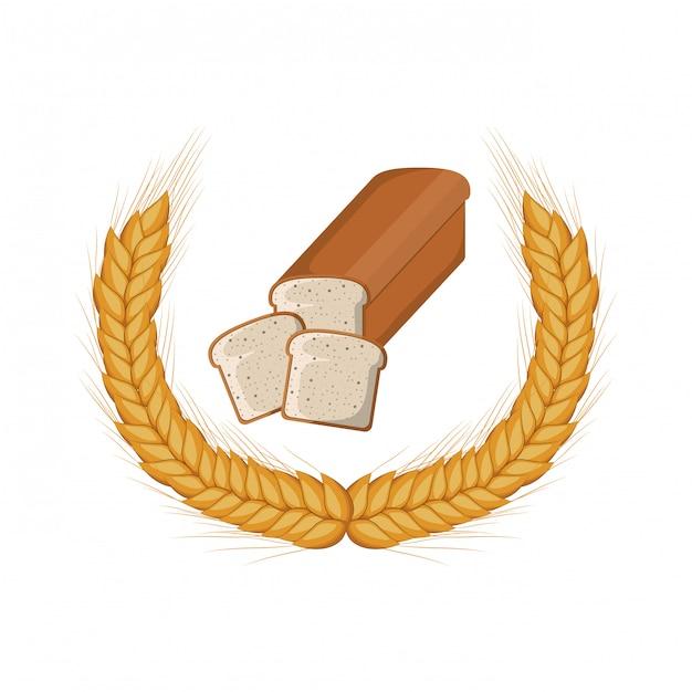 Pão de padaria fresco e delicioso Vetor Premium