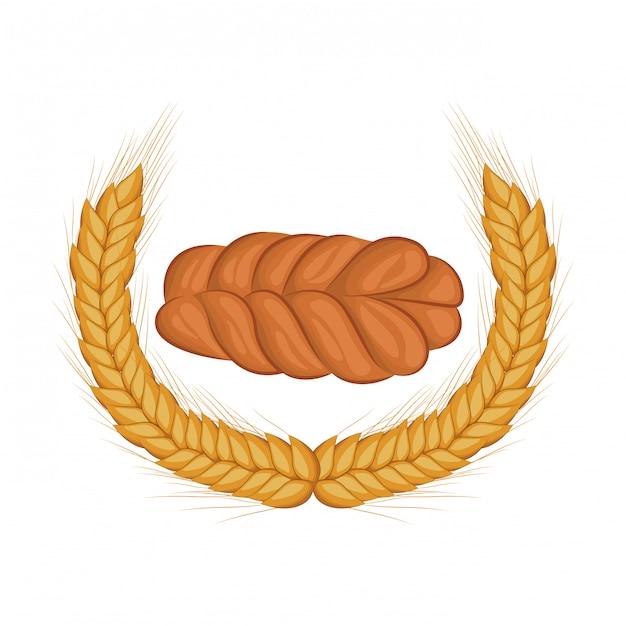 Pão fresco e delicioso Vetor Premium