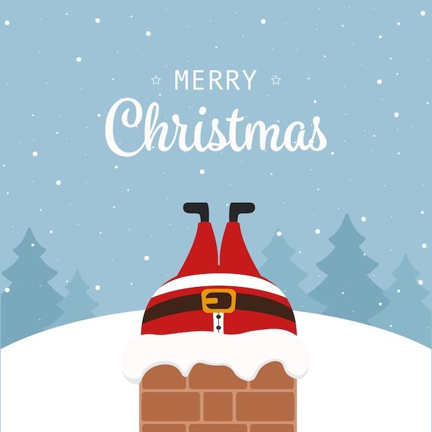 Papai Noel Preso Na Chamin 233 Natal Sauda 231 227 O Inverno