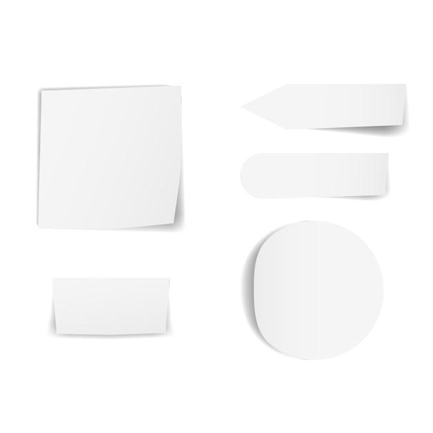 Papéis pegajosos em branco Vetor Premium