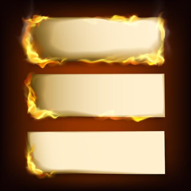 Papéis queimados Vetor Premium
