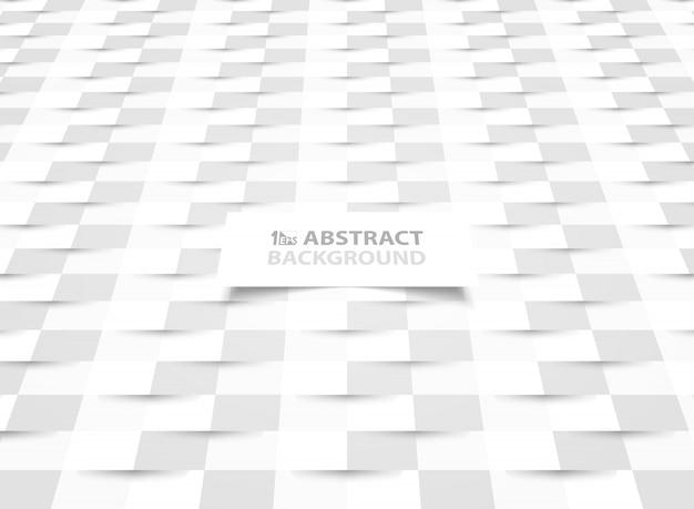 Papel abstrato cortado design de papel branco com apresentação de estilo de sombra. Vetor Premium