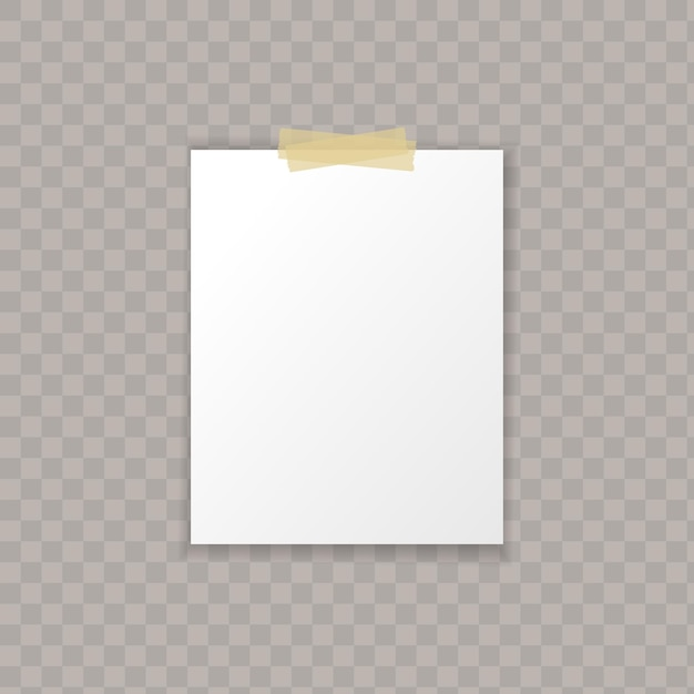 Papel com sombras isoladas Vetor Premium