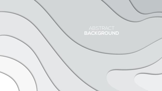 Papel cortado fundo 3d Vetor Premium