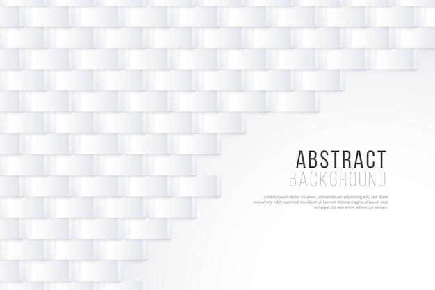 Papel de parede abstrato branco em estilo 3d Vetor grátis