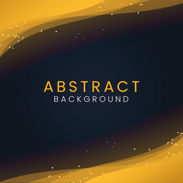 Papel de parede abstrato com partículas de glitter dourados decorativos Vetor grátis