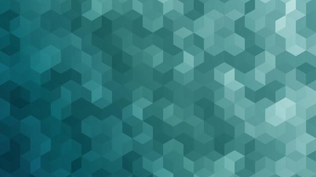 Papel de parede abstrato do cubo Vetor Premium