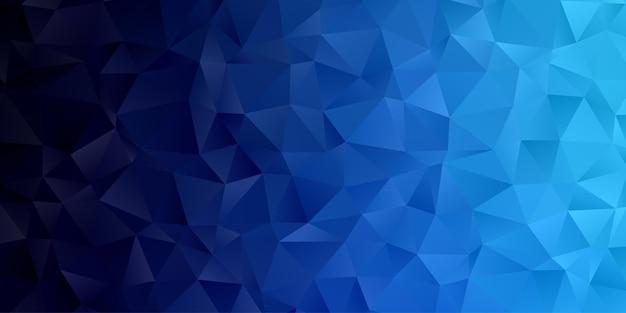 Papel de parede abstrato geométrico do fundo do polígono. capa do cabeçalho com forma de triângulo azul polly baixo Vetor Premium