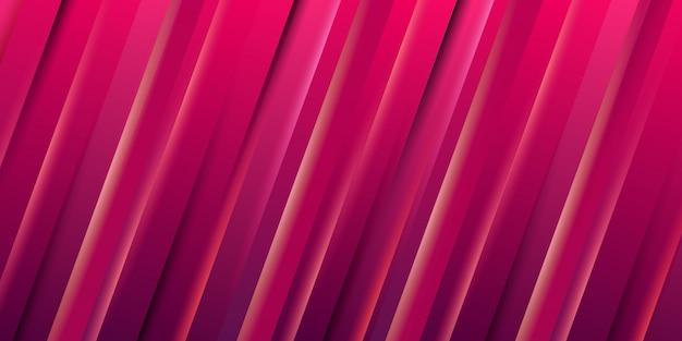 Papel de parede abstrato listra dinâmica gradiente vermelho Vetor Premium