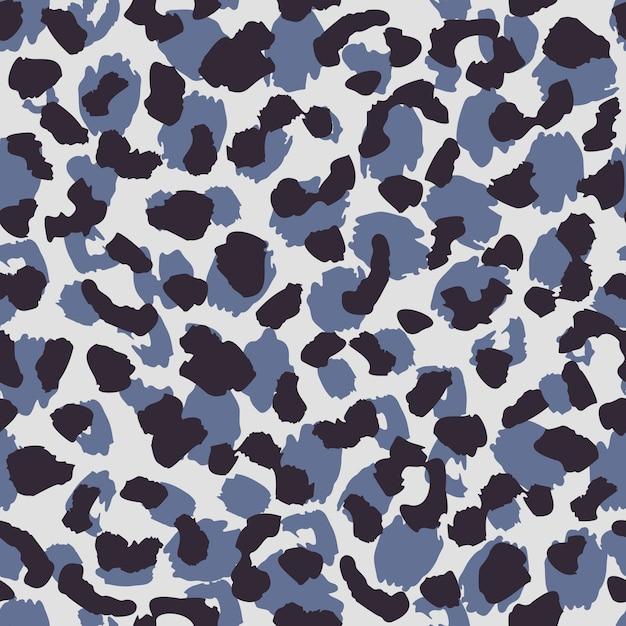 Papel de parede animal abstrato da pele. textura de padrão sem emenda de pele de leopardo. Vetor Premium