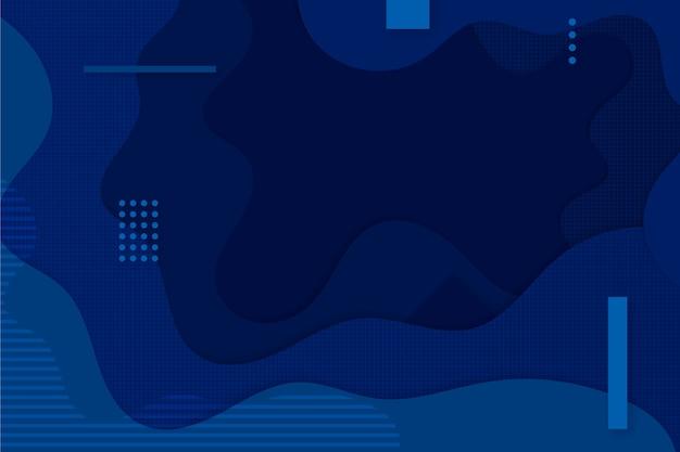 Papel de parede azul clássico criativo Vetor grátis