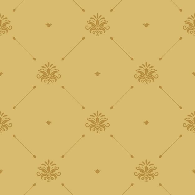 Papel de parede barroco aristocrático sem emenda. plano de fundo padrão retro vitoriano. Vetor grátis