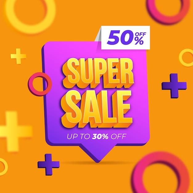 Papel de parede colorido de vendas 3d Vetor grátis