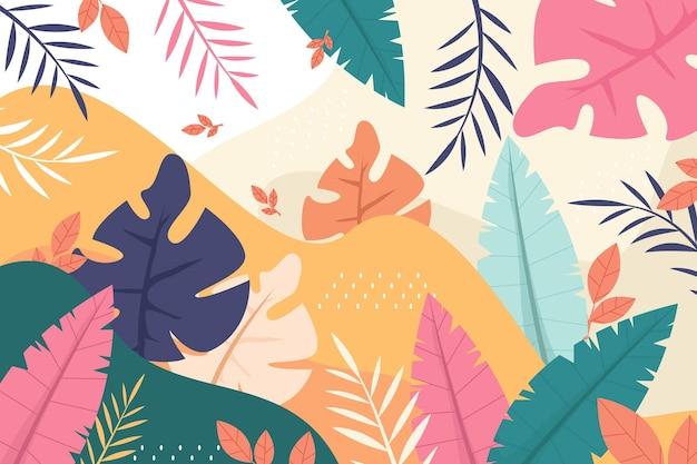 Papel de parede colorido do verão para zoom Vetor Premium