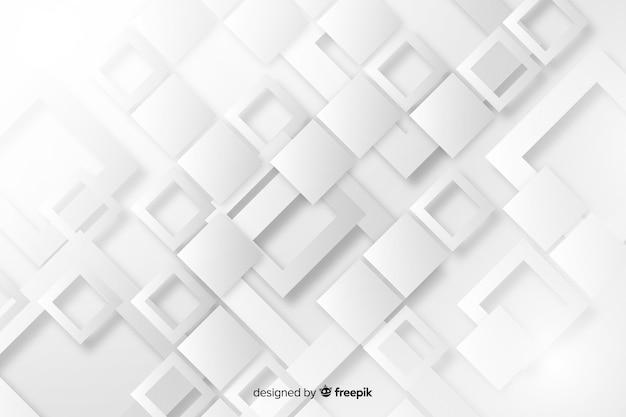 Papel de parede com design de formas geométricas de papel Vetor grátis