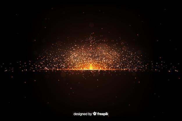 Papel de parede com design de partículas de explosão Vetor grátis