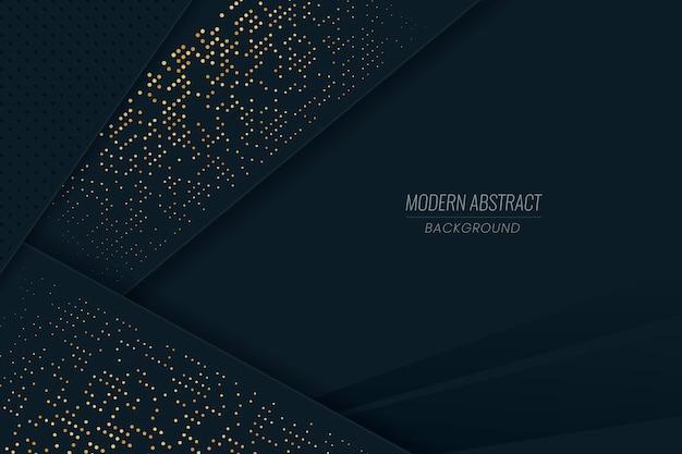 Papel de parede de camadas de papel escuro com detalhes dourados Vetor grátis