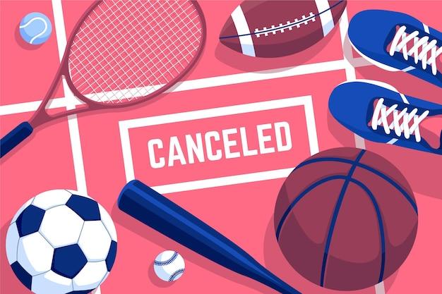 Papel de parede de eventos esportivos cancelados Vetor grátis