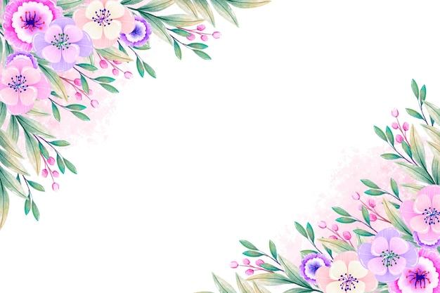Papel de parede de flores em aquarela em tons pastel Vetor grátis